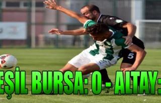 Yeşil Bursa-Altay: 0-1
