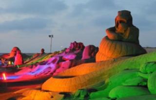 Uluslararası Antalya Kum Heykel Festivali Açıldı
