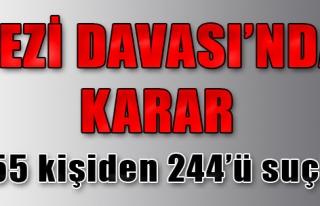 'Gezi Parkı Ana Davası'nda Karar