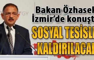 Bakan Özhaseki İzmir'de Konuştu