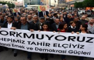 Adana'da Tahir Elçi Protestosu
