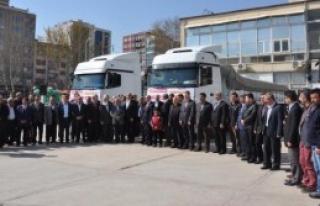 Adıyaman'dan Diyarbakır'a 3 TIR Yardım Gönderildi