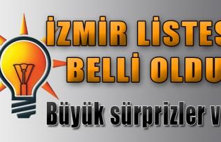AK Parti İzmir Listesi Belli Oldu