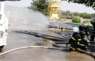 Akaryakıt İstasyonunda Yangın Tatbikatı