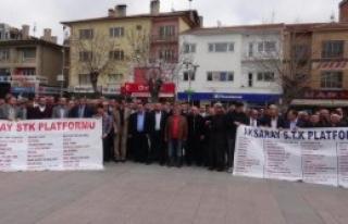 Aksaray'da Teröre Sessiz Yürüyüşle Tepki
