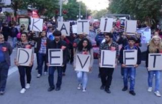 Ankara'daki Saldırı Uşak'ta Protesto Edildi