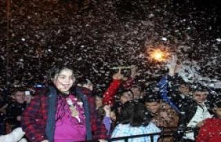 Antalya Yeni Yıla 'Kar'la Girdi