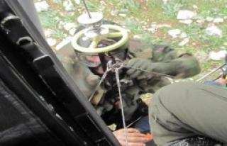 Askeri Helikopterle Hastaneye Yetiştirildi