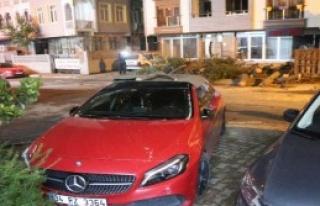 Ağaç Otomobilin Üstüne Devrildi