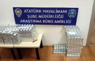 Atatürk Havalimanı'nda 3 Bin Paket Kaçak Sigara