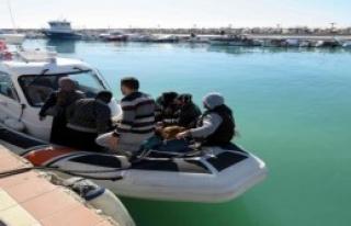 Ayvacık'ta Denizde 87 Mülteci Yakalandı