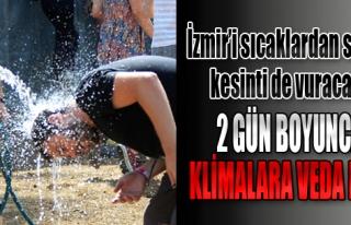 İzmir'i Sıcaklardan Sonra Elektrik Kesintisi de...