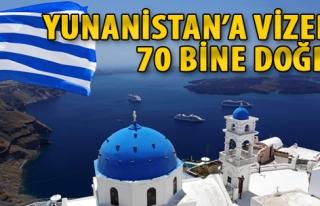 Yunanistan'a Vizede 70 Bine Doğru