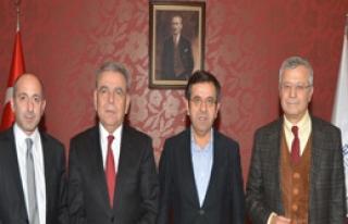 RTÜK Üyeleri, Kocaoğlu'nu Ziyaret Etti