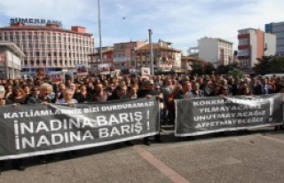 Balıkesir'de Saldırıya Yürüyüşlü Protesto