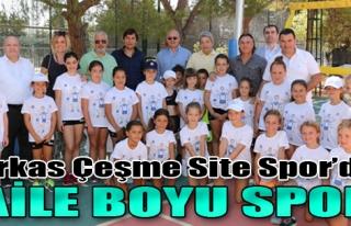 Arkas Çeşme Site Spor'da Aile Boyu Spor