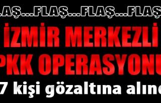 İzmir Merkezli PKK Operasyonu: 17 Gözaltı