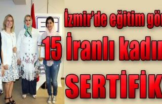 15 İranlı Kadına Sertifika