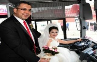 Otobüsü Gelin Arabası Yaptı