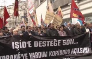 Beyoğlu'nda IŞİD Protestosu