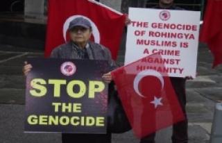 BM Önünde Myanmar Protestosu