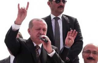 Erdoğan'dan Bozkurt İşareti