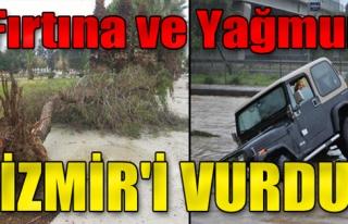 Fırtına ve Yağmur İzmir'i Vurdu