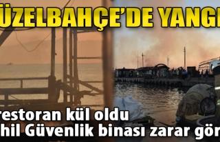 2 Restoran Kül Oldu, Sahil Güvenlik Binası Zarar...
