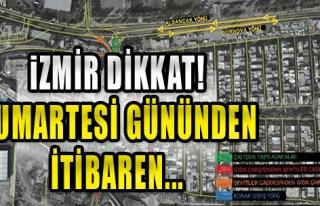 Halkapınar'da Geçici Trafik Düzenlemesi