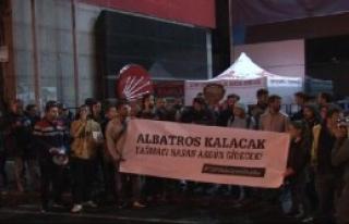 CHP İstanbul İl Merkezi Önünde Eylem