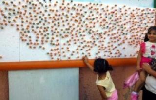 Çocuklara Reklam Panosunda Şeker