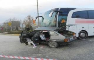 Çorum'da Kaza: 1 Ölü 2 Yaralı