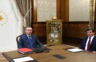 Erdoğan,Davutoğlu'nu Kabul Etti