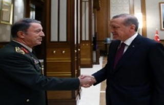 Cumhurbaşkanı Erdoğan Org. Akar'ı Kabul Etti