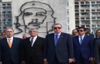 Erdoğan, Kübalı Şair Jose Marti'nin Anıtını...