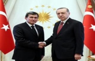 Erdoğan, Meredov'u Kabul Etti