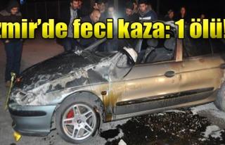 Logar Kapağına Çarpan Otomobil Takla Attı: 1 Ölü