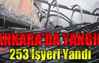 Ankara'da Halk Pazarı'nda Yangın