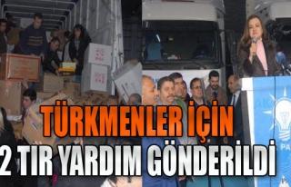 AK Partililer 2 TIR Yardım Gönderdi