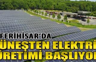 Güneşten Elektrik Üretimi Başlıyor