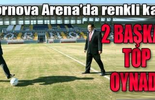 Bornova Stadı'nda 2 Başkan Top Oynadı