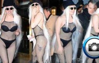 Soğuk Lady Gaga'ya İşlemedi