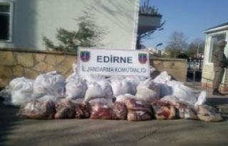1 Ton 310 Kilo Kaçak Et Ele Geçirildi