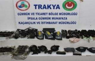 Edirne'de 3 Operasyonda 114 Oto Yedek Parçası Ele...