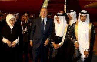 Cumhurbaşkanı Erdoğan, Katar'da