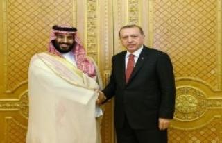 Erdoğan, Suudi Arabistan Veliaht Prensi'yle Görüştü