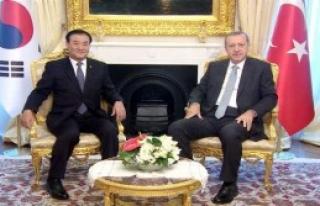 Erdoğan'a Güney Koreli Konuk