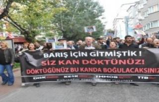 Eskişehir'de Teröre Tepki Yürüyüşü