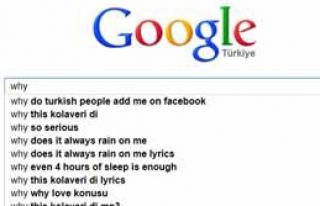 Google'dan Türklerle İlgili İlginç Öneri