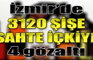 İzmir'de 3120 Şişe Sahte İçkiye 4 Gözatı
